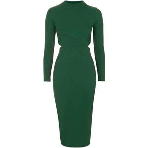 NWOT Top Shop Green cut out dress 👗